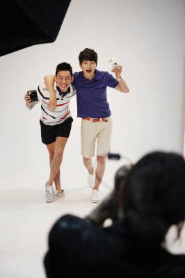 Song Joong Ki and Yoo Ah In for Intax FujiFilm CF
