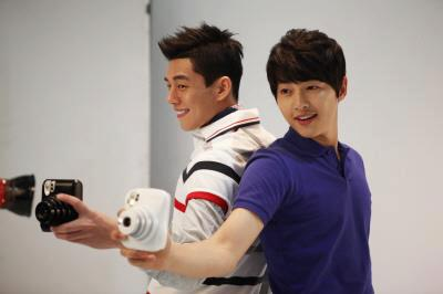 Song Joong Ki and Yoo Ah In for Intax FujiFilm CF