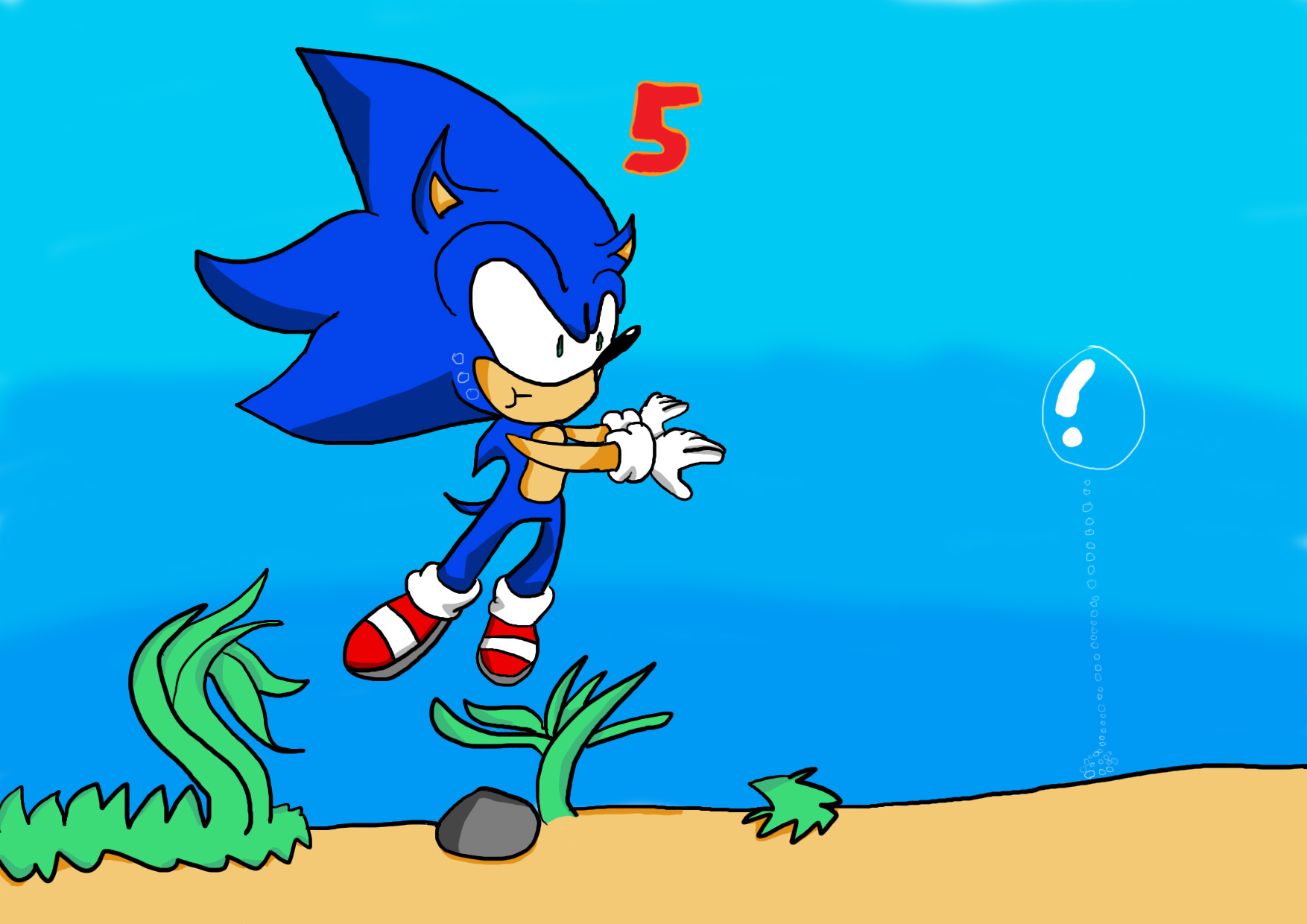 Sonic Underwater Sonic The Hedgehog Sega Fans Fan Art 31661970 Fanpop