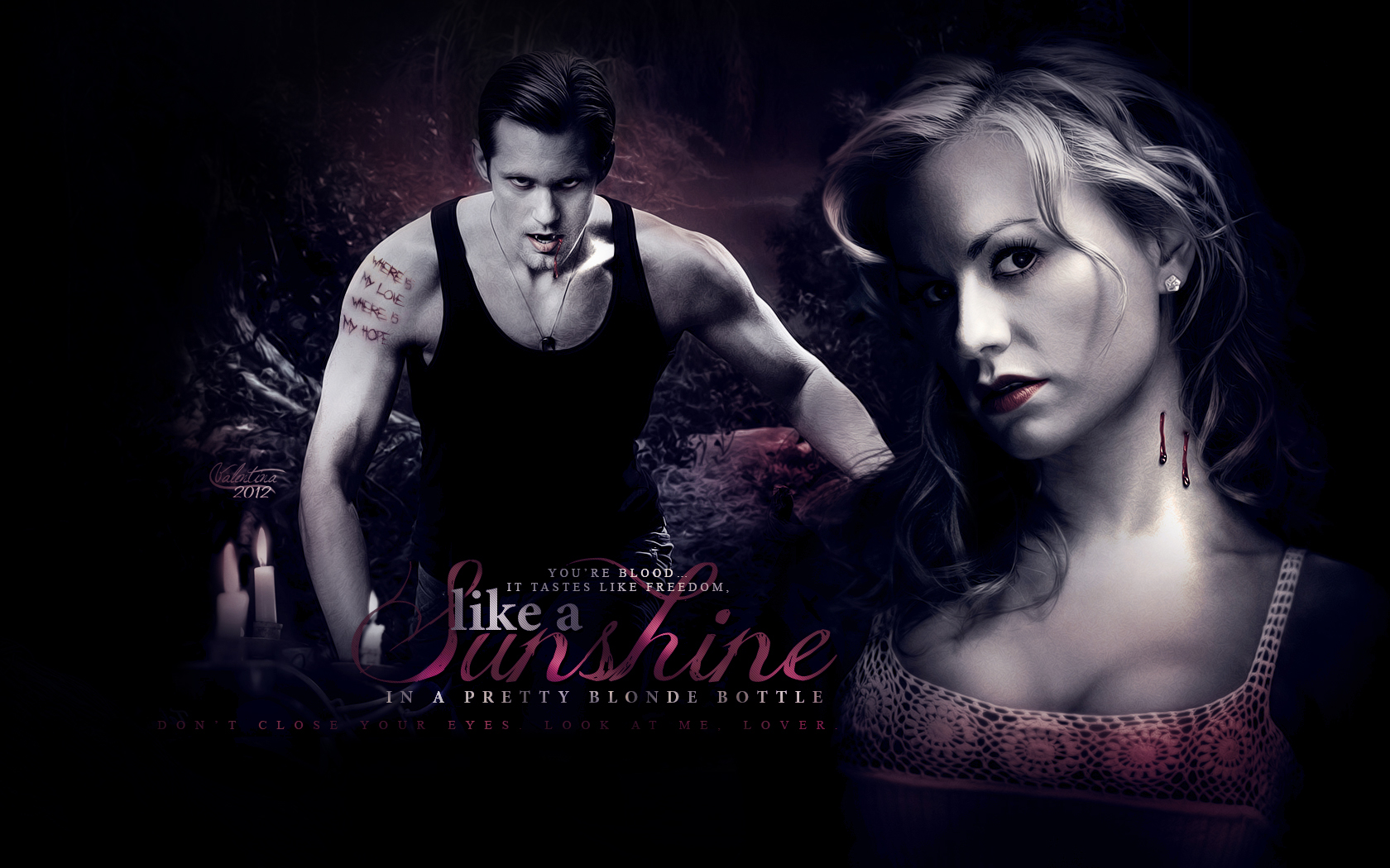 Real Blood Love Wallpaper : True Blood images Sookie and Eric HD wallpaper and background photos (31603975)
