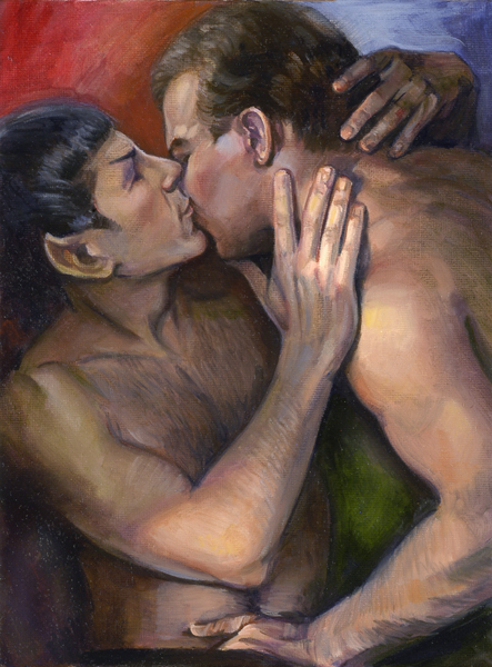 from Amir kirk spock gay art