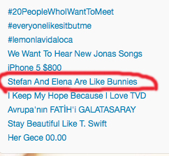 Stefan And Elena Are Like Bunnies is trending today. - stefan-and-elena Photo