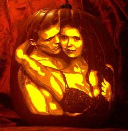 Stefan & Elena wallpaper probably containing a jack o' lantern titled Stelena