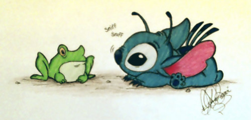 Lilo & Stitch 壁纸 entitled Stitch and his little friend