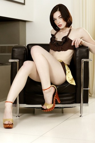 Stoya Обои with bare legs, hosiery, and a hip boot entitled Stoya