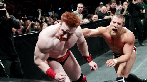 রাস্তা Fight!!!! Sheamus vs Bryan