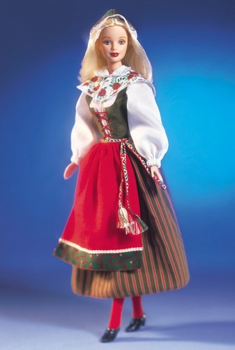 Barbie: Dolls Collection wallpaper possibly with a kirtle and a polonaise called Swedish Barbie® Doll 2000