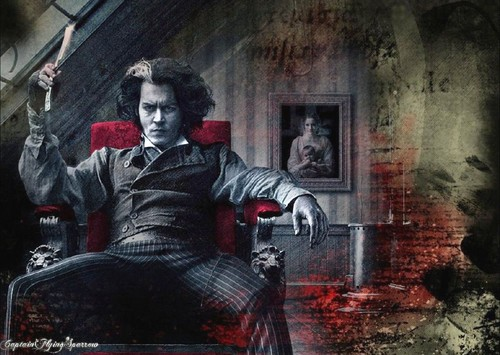 Johnny Depp wallpaper probably with a street called Sweeney Todd