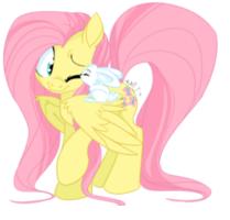 Sweet Fluttershy Whit ángel <3