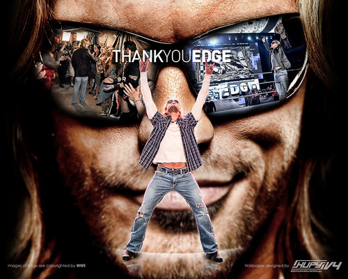 WWE wallpaper probably containing sunglasses called Thank You Edge