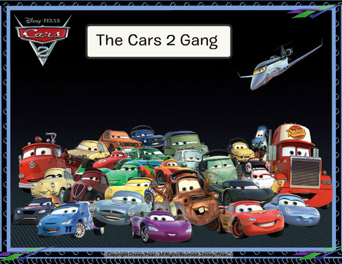 Disney Pixar Cars 2 Hintergrund entitled The Cars 2 Gang