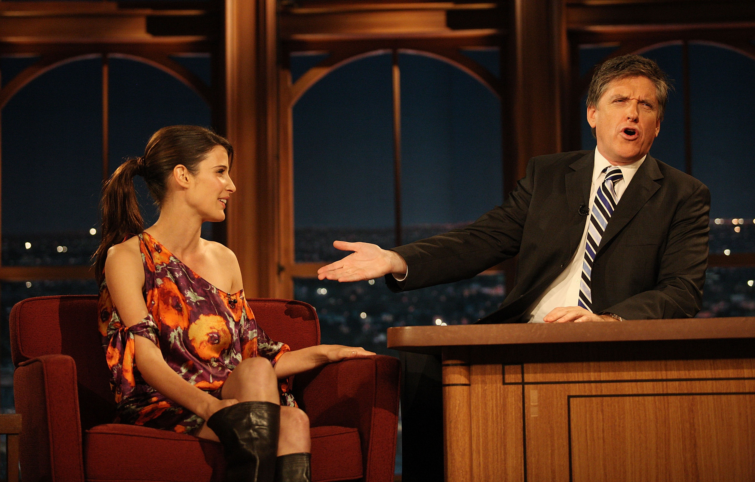 Cobie Smulders late late show