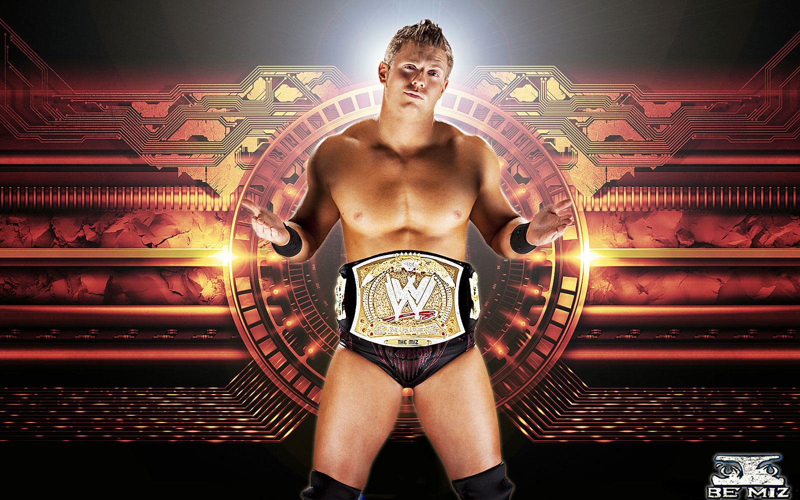 the miz wwe wallpaper 31689187 fanpop