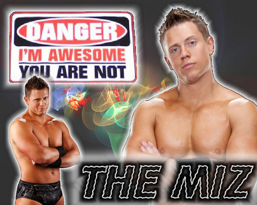 WWE wallpaper containing a hunk, a six pack, and skin entitled The Miz
