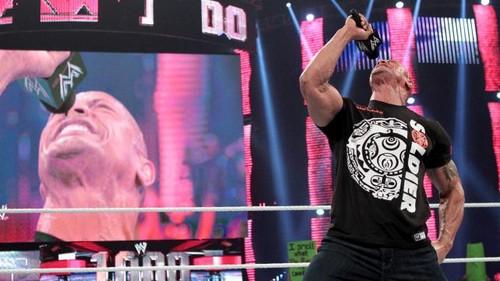 The Rock, Cm Punk and Daniel Bryan segment