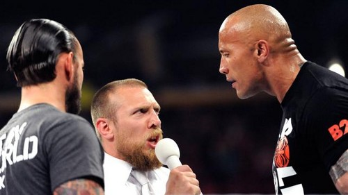 The Rock,  Cm Punk and Daniel Bryan segment