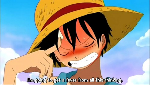 Thinking hurts Luffy...! :P - one-piece Photo