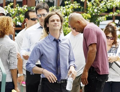 Thomas, Matthew & Shemar on the set