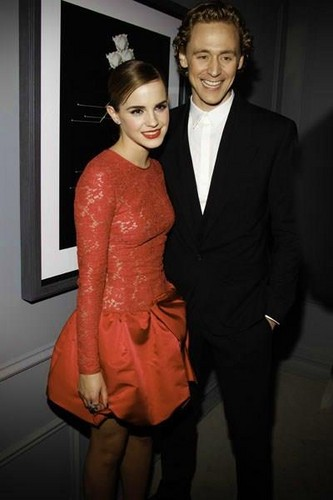 Tom Hiddleston and Emma Watson