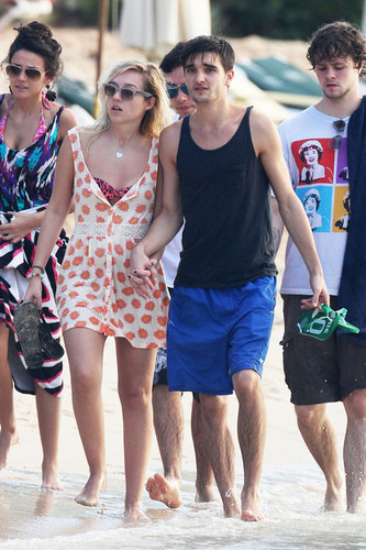 Tom Parker and Kelsey Harwick in Barbados