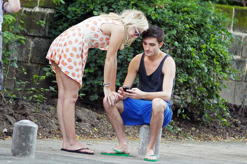 Tom Parker and Kelsey Harwick in Barbados