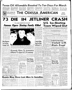 U.S. figure skating team killed in plane crash Feb 15, 1961