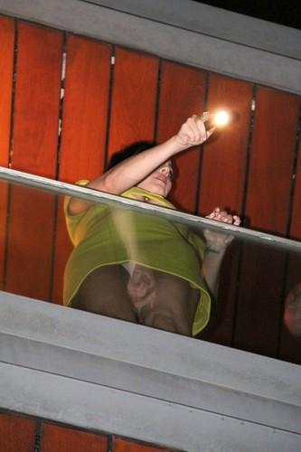 Upskirt On Her Hotel Balcony In Rio [30 July 2012]