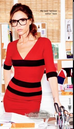 Victoria Beckham Glamour Magazine US