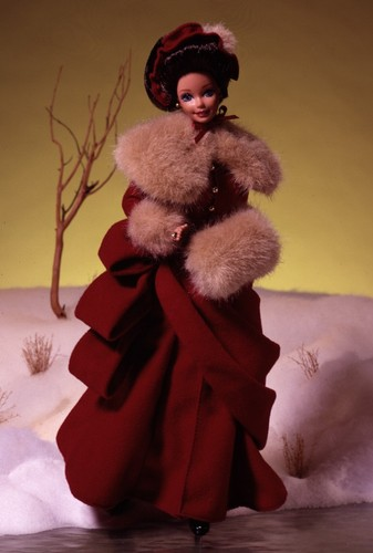 Barbie: Dolls Collection wallpaper containing a fur coat titled Victorian Elegance® Barbie® Doll 1994