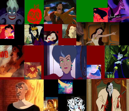 Disney Villains wallpaper probably containing anime titled Villains Collage