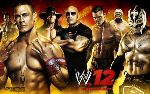 WWE kertas dinding entitled WWE' 12