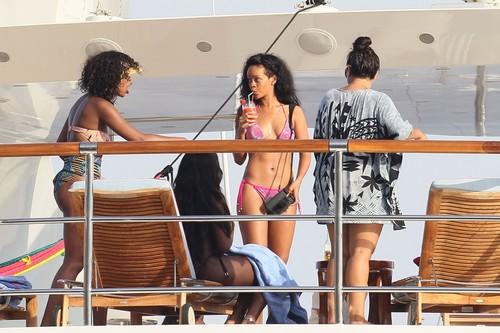 Wearing A Bikini On A Yacht In France [27 July 2012]