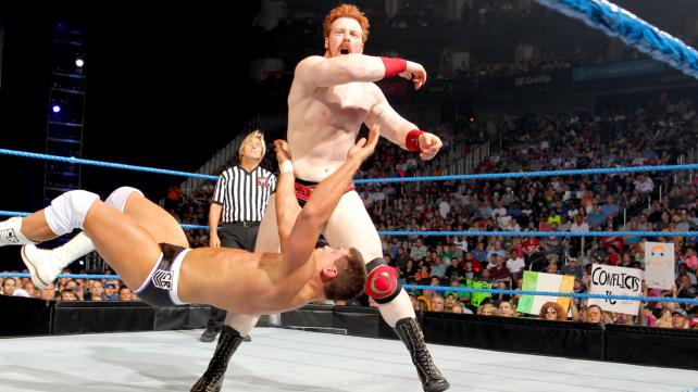 Cody rhodes battles it out with sheamus