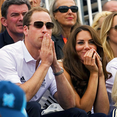 Prince William and Kate Middleton images William&Catherine at the Olympics wallpaper and background photos