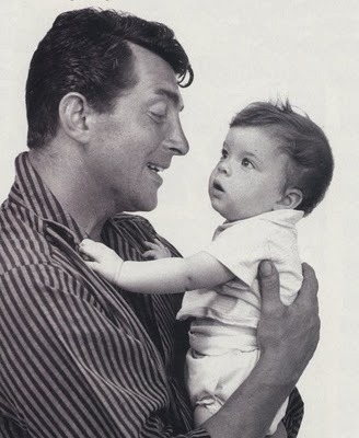 Dean Martin wallpaper possibly containing a neonate titled With baby Gina
