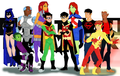 YJ + TT fan art - teen-titans-vs-young-justice fan art