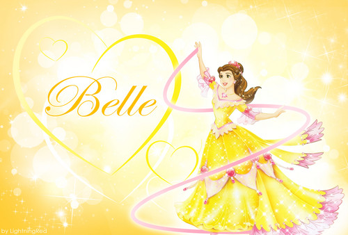 Yellow Belle kertas dinding