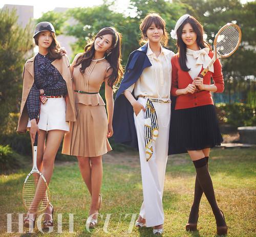 Yoona, Yuri, Sooyoung & Seohyun @ High Cut