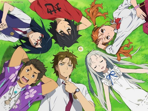 AnoHana wallpaper containing anime entitled around you...