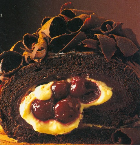 chocolate cake with cherries - chocolate Photo