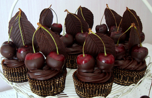 brandied-chocolate-cherry-cupcakes