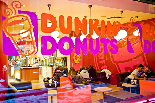 Dunkin Donuts wallpaper containing a brasserie entitled dunkin donuts
