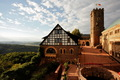 eisenach wartburg castle view over atrium - castles photo