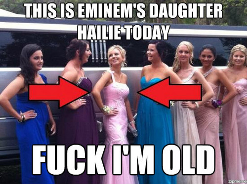 Marshall Mathers wallpaper containing a bridesmaid and a dinner dress titled eminem's daughter hailie jade scott mathers new real rare hot 2012