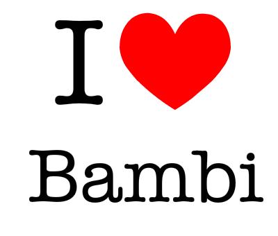 Bambi wallpaper titled i love bambi