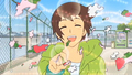 kyon smiling - kyon-the-melancholy-of-haruhi-suzumiya photo