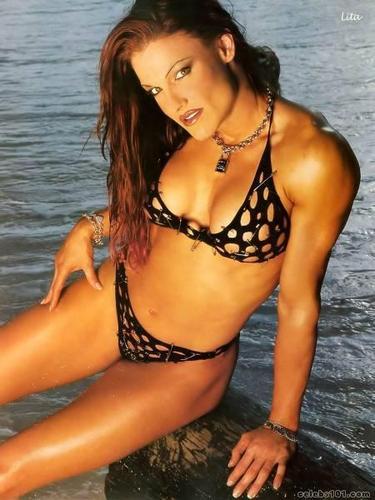 "Amy ""Lita"" Dumas wallpaper with a bikini titled lita"