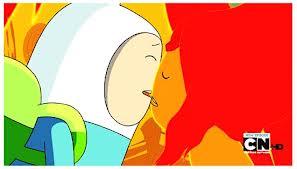 Kiss me again- Finn and Flame Princess - YouTube   Adventure Time Finn And Flame Princess Kiss