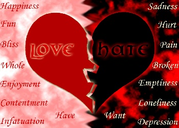 Quotes About Love Vs Hate : love wallpaper containing a venns diagram in The Love Vs. Hate Club