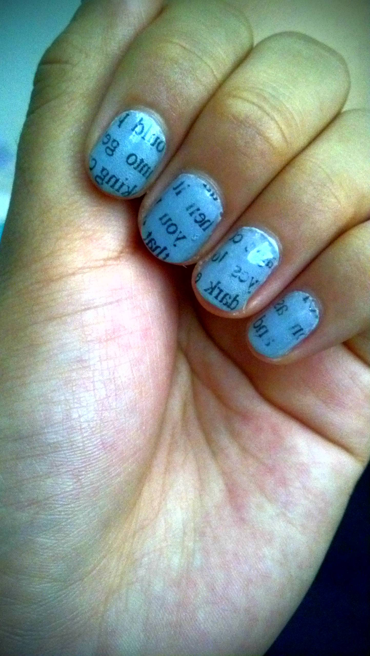 Newspaper Nails Nail Polish Photo 31646913 Fanpop